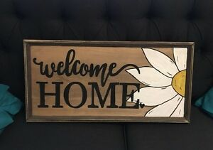 Rustic welcome home sign West Island Greater Montréal image 1