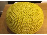 Yellow floor cushion