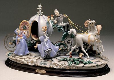 Cinderella with Coach Capodimonte Laurenz Disney C.O.A. Original Box