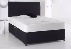 ⭕🛑⭕cheapest price offered⭕🛑⭕- brand new double divan bed base and deep quilted mattress range