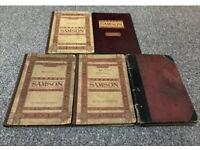 "5 copies of the musical choir score of ""Samson"" By Handel"