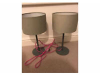 Pair of grey lamps from Marks and Spencer