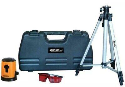 Johnson - Level Construction Laser Tool Wcase Kit Set Self Leveling - Brand New
