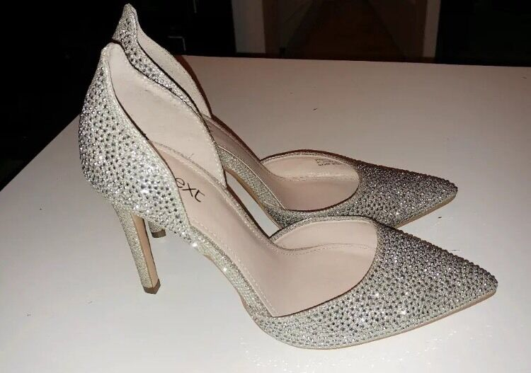 Next sparkly gold court shoes/heels size 4.5 brand new | in Derby ...