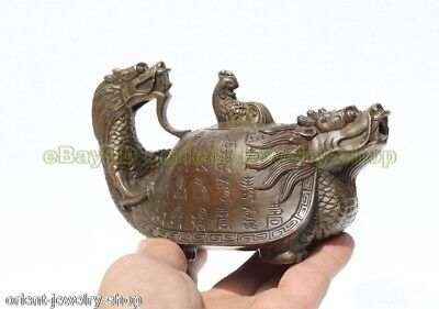 Antique Dragon Style Ancient Bronze Statue Lion India Incense Burner