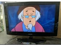 """Samsung 32"""" Lcd Full Hd Slimline Tv Built In Freeview Remote & Stand Excellent Condition"""