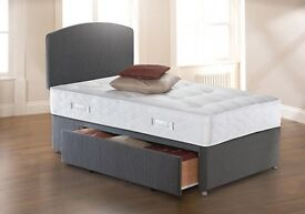 - 14 days Guaranty - Single Double AND KING Size LUXURY DIVAN BED WITH MATTRESSES - SAME DAY DELIVER
