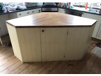 Stunning Bespoke Kitchen Island with Solid Beech Top