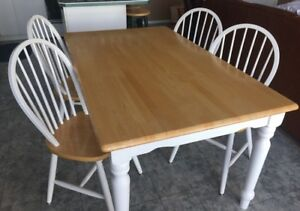Farm House style butcher block table and 4 chairs