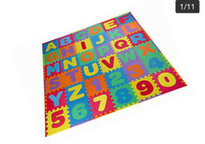 Interlocking alphabet and number foam play mat for kids