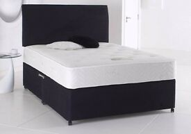SALE! SALE! --- Small Double or Standard Double Divan Bed Base In White ,Cream or Black