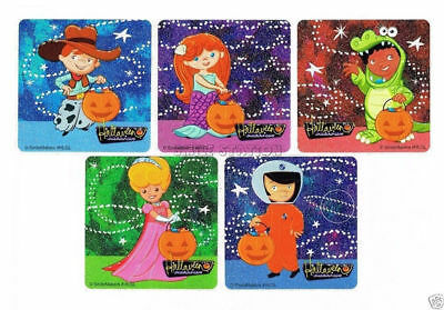 10 Glitter Trick or Treater Stickers Kid Halloween Party Goody Bag Favor Supply