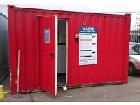 10ft shipping container Toilets (£1950) plus 20ft empty Containers (£800)