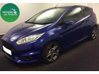 £217.79 PER MONTH BLUE 2013 FORD FIESTA 1.6 ECOBOOST ST-2 3 DOOR PETROL MANUAL