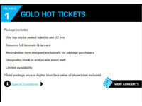 U2 Gold Hot VIP Tickets