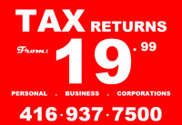 Tax Returns - From $19.99 & Up_Also open on Saturday, Sunday_T16