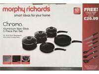Brand New - Morphy Richards 5 Piece Pan and 6 Piece Tool Set