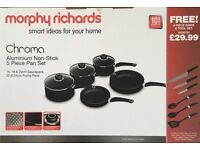 Brand New - Morphy Richards 5 Piece Pan and 6 Piece Tool Set