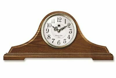 """New INFINITY INSTRUMENTS Oak Tambour Chime Mantle Clock 4.75""""H x 18.75""""L"""