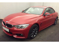 Red BMW 420d M Sport Coupe 190bhp 2015 FROM £119 PER WEEK!