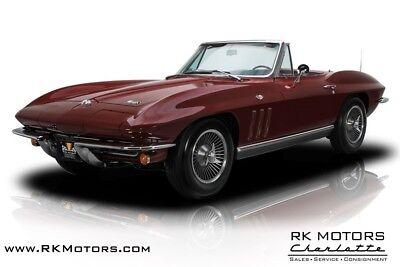 1966 Corvette Sting Ray 1966 Chevrolet Corvette Sting Ray Milano Maroon Roadster 327 V8 L79 4 Speed Manu