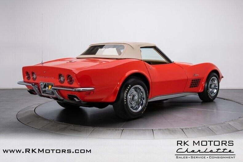 1970 Red Chevrolet Corvette  1LT   C3 Corvette Photo 8