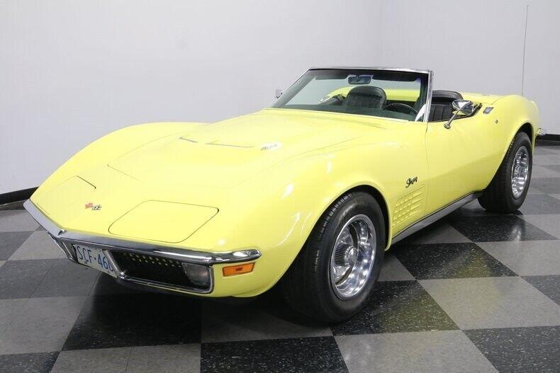 1970 Yellow Chevrolet Corvette Convertible  | C3 Corvette Photo 6