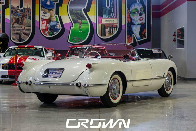 1954 White Chevrolet Corvette   | C1 Corvette Photo 3