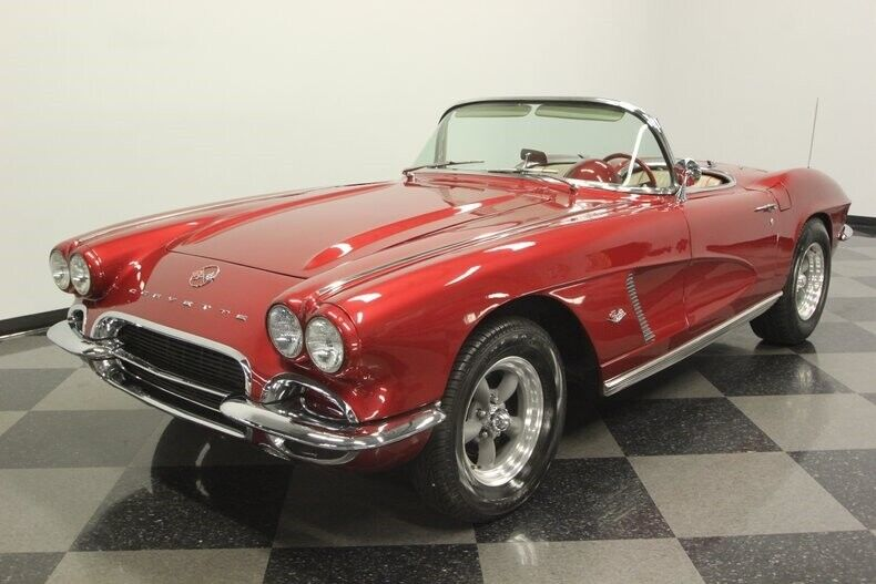 1962 Burgundy Chevrolet Corvette Convertible  | C1 Corvette Photo 6