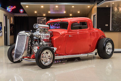 1934 Ford 3-Window Coupe Street Rod '34 Ford! Henry Ford Steel Body! Ford 347ci V8, 6-71 Blower, C4 Auto, TCI Frame!