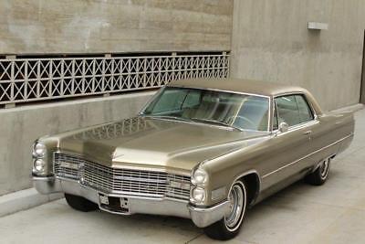 1966 Cadillac DeVille -- 1966 Cadillac DeVille  60483 Miles Champagne Coupe V8 Automatic