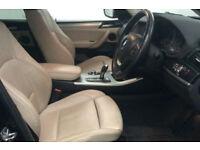Black BMW X3 2.0TD Auto 2011 xDrive20d SE FROM £51 PER WEEK!