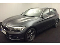 Grey BMW 118d 2.0 2015 150bhp 78mpg Alloys Leather FROM £57 PER WEEK!
