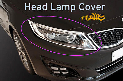 Chrome Head Lamp Cover Light Molding Silver 2Pcs K-969 for KIA Optima 2014~2015