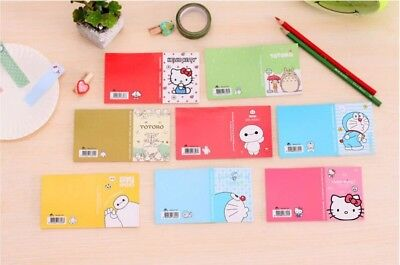 Cute Memo Pad Hello Kitty Doraemon Self Adhesive Sticky Note Planner