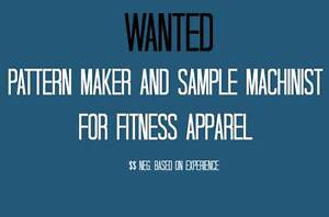 Needed - Pattern maker & Sample Machinist $25 p/h Mosman Mosman Area Preview