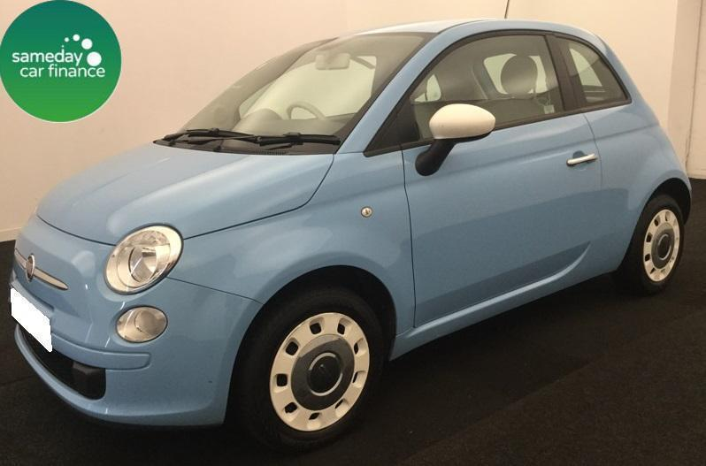 £124.84 PER MONTH BLUE 2013 FIAT 500 1.2 COLOUR THERAPY 3 DOOR PETROL MANUAL