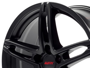 """17"""" BLACK ALUTEC WHEELS (AND COOPER TIRES) West Island Greater Montréal image 2"""