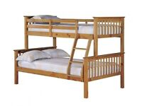 🎆💖🎆CHEAPEST PRICE EVER🎆💖🎆TRIO SLEEPER WOODEN BUNK BED SAME DAY EXPRESS DELIVERY