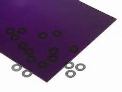 Purple Transparent Acrylic Plexiglass Sheet 18 X 6 X 12 3073