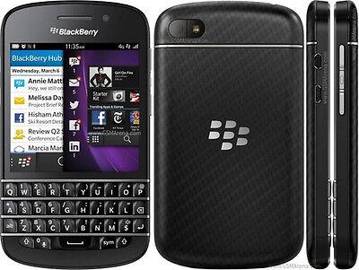 "New Original BlackBerry Q10 16GB Black (Unlocked) Smartphone,8MP,3.1"",GSM QWERTY"