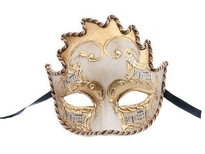 Mask from Venice Colombine Wolf Sun Symphony Mask Venetian Authentic 322