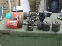 Rc nitro cars and truck job lot