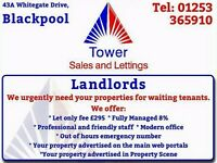 More Properties Needed for Waiting Tenants.