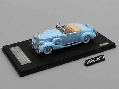 Used, GLM 1:43 Packard Twelve Model 1407 Bohman & Schwartz Convertible Coupe 1936 blue for sale  Shipping to United States