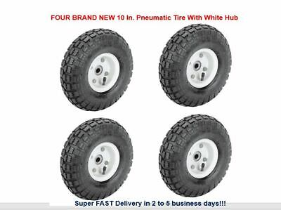 """Complete 10/"""" Wheel /& Tyre 4.10//3.50-4 For Pedal GoKart or Trolley-10mm Axle Hole"""
