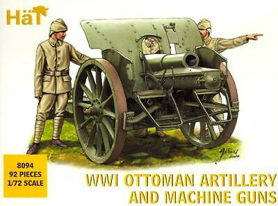HaT Miniatures 1/72 WWI OTTOMAN ARTILLERY AND MACHINE GUNS WITH CREWS Figure Set