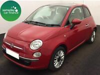 ONLY £133.85 PER MONTH RED 2014 FIAT 500 1.2 LOUNGE 3 DOOR PETROL MANUAL