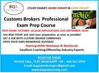 CUSTOMS EXAM PREP COURSE JOIN LAST CHANCE EXAM ON 18OCT
