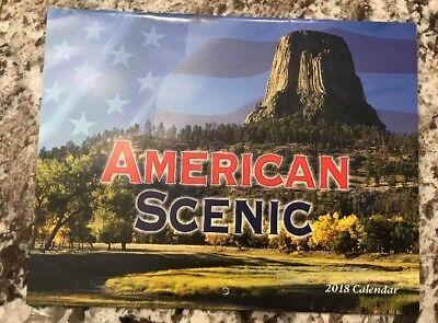 2018 American Scenic Wall Calendar